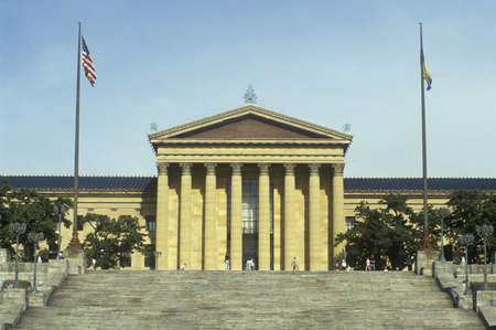 brotherly love: Entrance to the Philadelphia Museum of Art, Philadelphia, PA Editorial