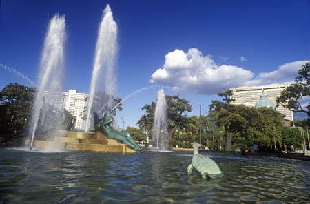 pa: Logan Square Fountain in Philadelphia, PA Editorial