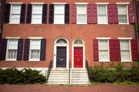 18th Century brick homes of historic Philadelphia, Pennsylvania near Independence Hall