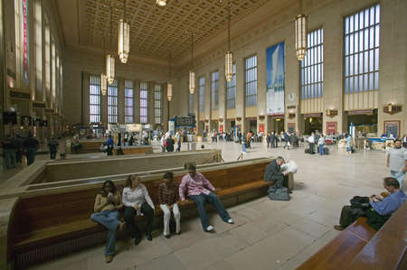 brotherly love: Interior view of 30th Street Station, a national Register of Historic Places, AMTRAK Train Station in Philadelphia, PA Editorial
