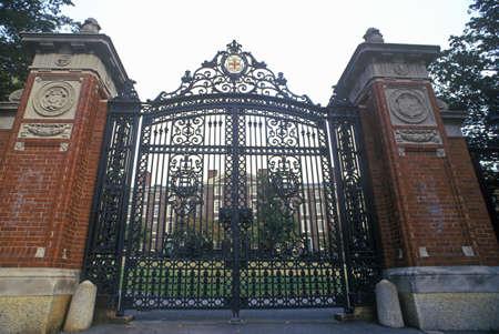 ri: Gates at entrance to Brown University, Providence, RI Editorial
