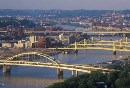 Bridges over the Allegheny River, Pittsburgh, PA Stock Photo - 20513694
