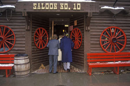 gold rush: Entrance to Saloon #10 in Gold Rush town of Deadwood, SD Editorial
