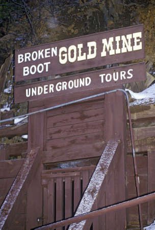 Tourist attraction of Broken Boot Gold Mine in Deadwood, SD