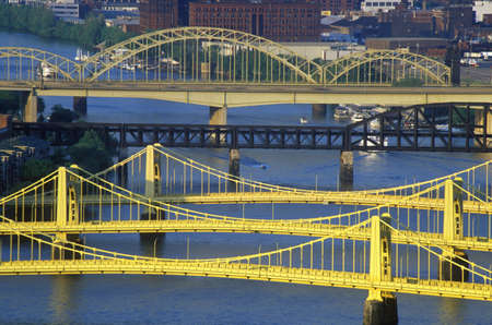 allegheny: Bridges over the Allegheny River, Pittsburgh, PA Editorial