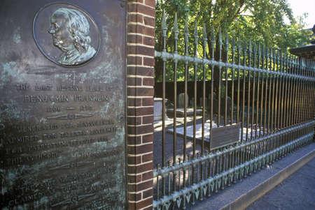 Benjamin Franklin graf, Philadelphia, PA