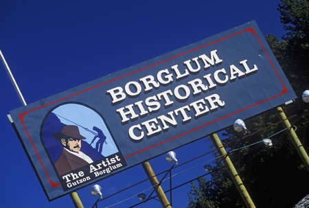 keystone: Entrance sign to Borglum Historical Center, Keystone, SD