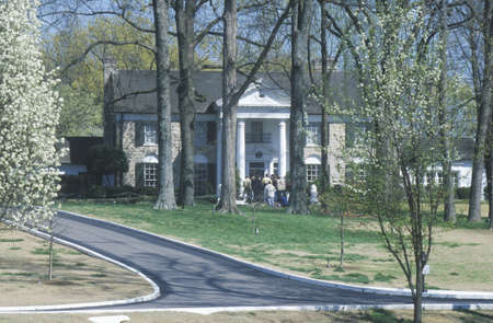 tn: Entrance to Graceland, home of Elvis Presley, Memphis, TN