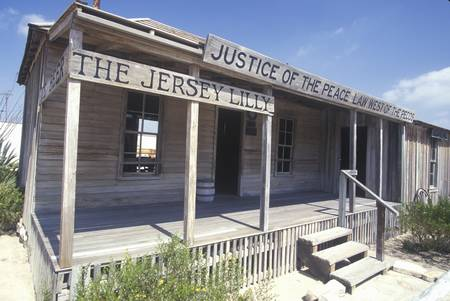 old sign: Judge Roy Bean Museum in Langtry, TX