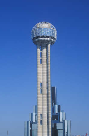 Detail of Reunion Tower in Dallas, TX