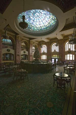 Interior view of bar and lounge in Camino Real Hotel El Paso, El Paso, Texas