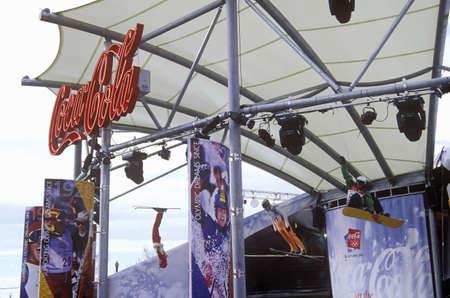 salt lake city: Patrocinador oficial de visualizaci�n Cola Coca Corporativa en los Juegos Ol�mpicos de Invierno de 2002, Salt Lake City, UT