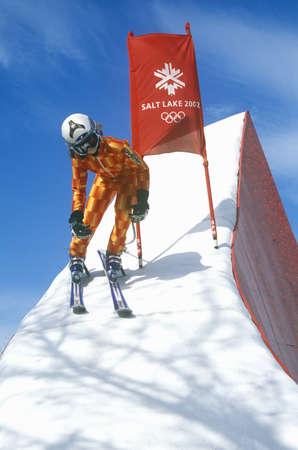 salt lake city: Esqu� de monta�a exhibici�n en los Juegos Ol�mpicos de Invierno de 2002, Salt Lake City, UT Editorial