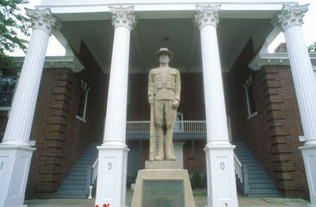 dominion: Statue in front of Petersburg Courthouse on US Route 55, Petersburg, VA