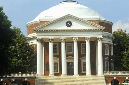 va: Exterior of Rotunda at University of Virginia designed by Thomas Jefferson, Charlottesville, VA