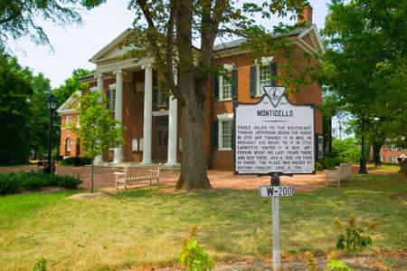historic district: Historic district of  Charlottesville, Virginia, home of President Thomas Jefferson