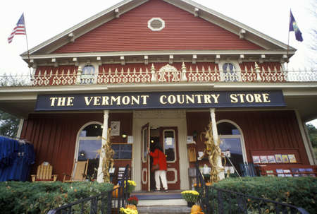 Front porch of Vermont Country Store in Rockingham, VT