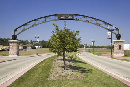 sioux: Welcoming Gate to Falls Park, Sioux Falls, South Dakota