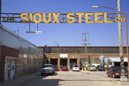 sioux: Sioux Steel Company sign, Sioux Falls, South Dakota Editorial