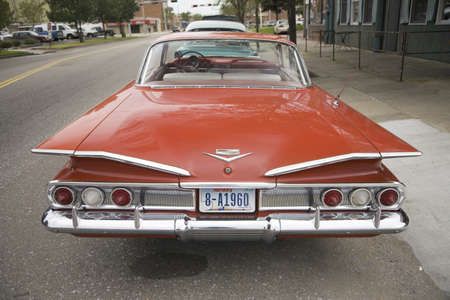 1960 restored red Chevy Impala, Grand Island, Nebraska