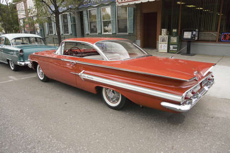 1961 restored red Chevy Impala, Grand Island, Nebraska