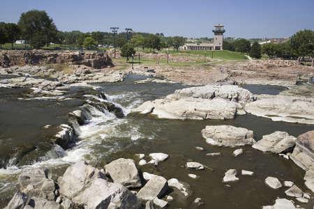 sioux: Sioux Falls Waterfall on the Big Sioux River, Sioux Falls, South Dakota