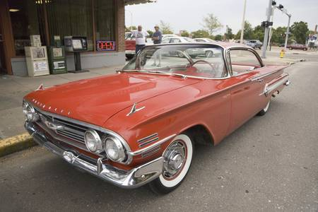 1962 restored red Chevy Impala, Grand Island, Nebraska