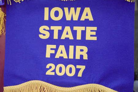 Blue ribbon for Iowa State Fair, Des Moines, Iowa, August, 2007 Editorial