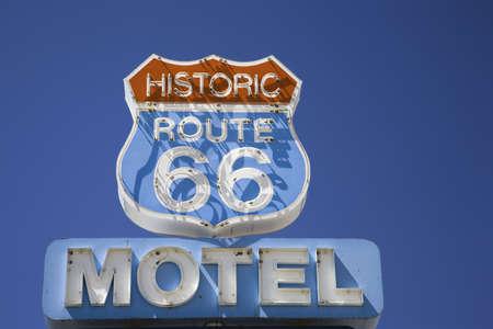 Historic Route 66 Motel in Seligman Arizona along Route 66 新闻类图片