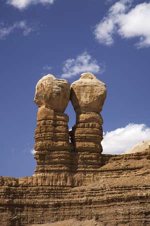 Twin Rocks in Bluff Utah off Route 163