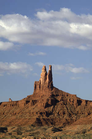spires: Red buttes and colorful spires of Monument Valley Navajo Tribal Park, Southern Utah near Arizona border
