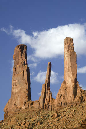 john wayne: John Wayne W Rock at Monument Valley Navajo Tribal Park, Southern Utah near Arizona border