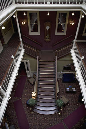 Interior view of restored historic Victorian Hotel, the Beaumont, in Ouray, Colorado