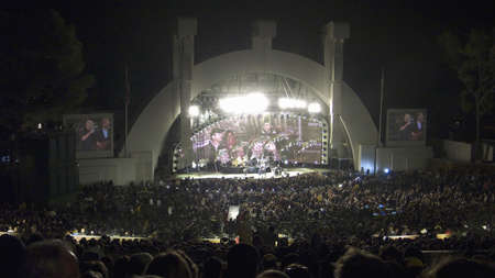 north hollywood: Night rock concert with colorful lighting at Hollywood Bowl featuring Genesis with Phil Collins, Los Angeles, California, October 13, 2007