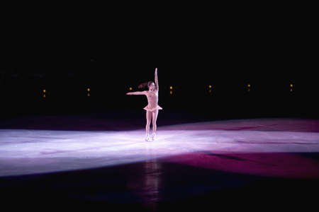 Champion figure skater Sasha Cohen performing at Champions on Ice, May 27, 2007 at Staple Center, Los Angeles, California