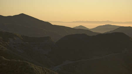 mountain ranges: Las Padres National Forest, Southern California near Ojai at sunset