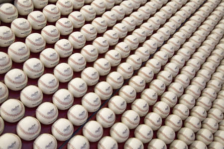 brotherly love: A pattern of Rawlings Major League Baseballs at Citizens Bank Park, Philadelphia, Pennsylvania Editorial