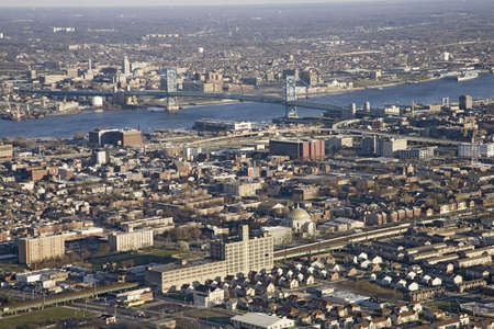 brotherly love: Aerial sunset views of Philiadelphia, Pennsylvania, the City of Brotherly Love