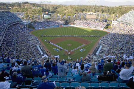 Opening ceremony of National League Championship Series (NLCS), Dodger Stadium, Los Angeles, CA on October 12, 2008