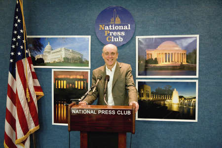 Author photographer Joseph Sohm speaking from the National Press Club in Washington D.C. Editorial