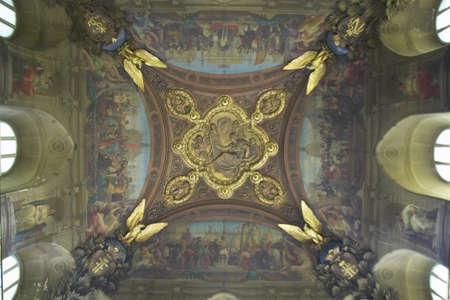 ceiling: Ceiling Fresco at the Louvre Museum, Paris, France