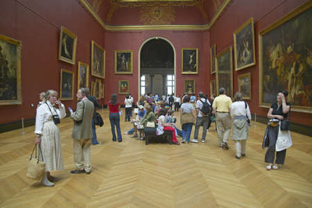 European Gallery in the Louvre Museum, Paris, France