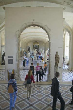 Interior of the Louvre Museum, Paris, France