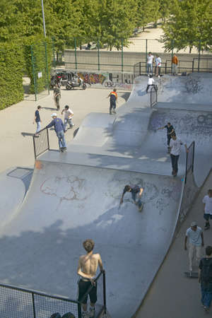 stadia: Skateboard Park, Palais de Omnisports de Paris Bercy, Paris, France