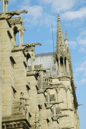 gargoyles: Gargoyles on the exterior of the Notre Dame Cathedral, Paris, France