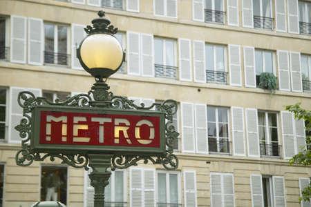 Vintage Metro Sign, Paris, France