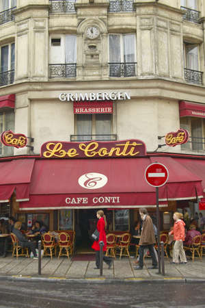 caf: The CafŽ Conti, a cafŽ in Paris, France