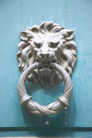 doorknocker: Lion doorknocker, Paris, France Editorial
