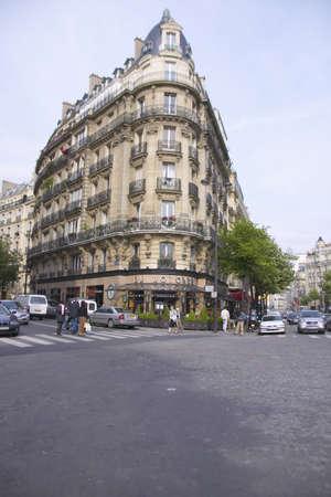 Street corner, Paris, France Editorial