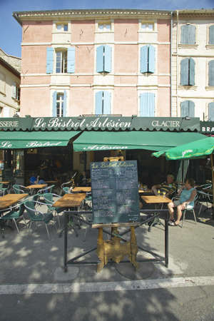 awnings: Caf� in Arles, France